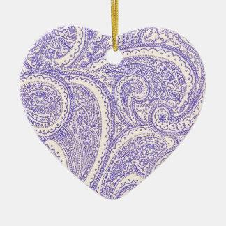 paisleys ceramic heart decoration
