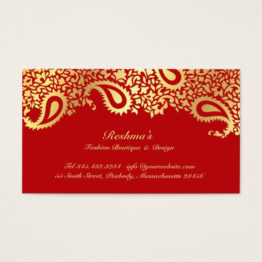 Paisleys Elegant Business Card