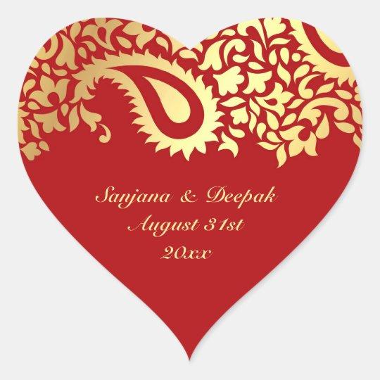 Paisleys Elegant Indian Wedding Sticker