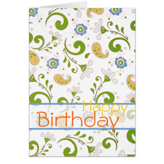 Paisley's garden - Customized Card