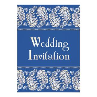 "Paisleys Indian/Jewish Wedding Flat Invitation 5"" X 7"" Invitation Card"