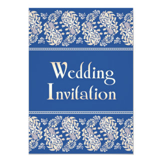 "Paisleys Indian/Jewish Wedding Flat Invitation 5"" X 7"" Invitation Card"