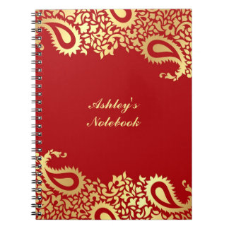 Paisleys Indian Style Notebook