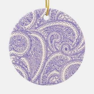 paisleys round ceramic decoration