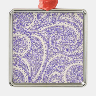 paisleys Silver-Colored square decoration