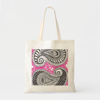 Paisly of leaves tote bag