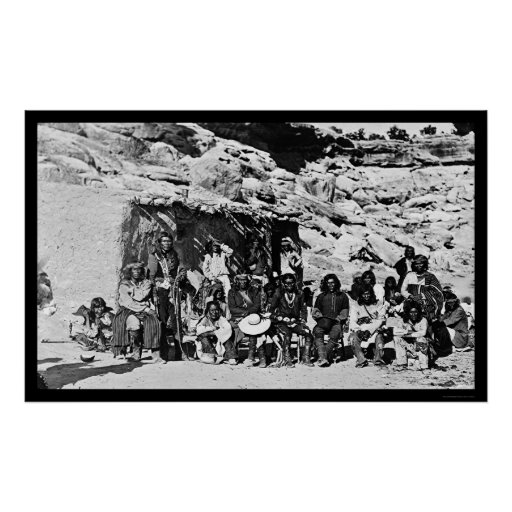 Paiute Indian Adobe House 1912 Poster
