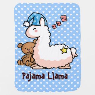 Pajama Llama Baby Blanket