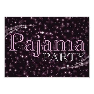 "pajama party invitations : starshine 5"" x 7"" invitation card"