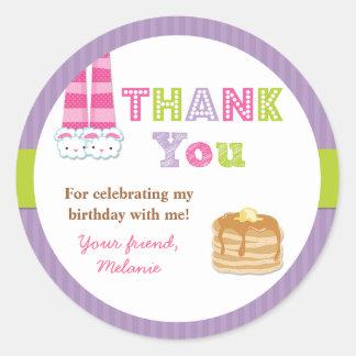 Pajamas and Pancakes Birthday Party Sticker