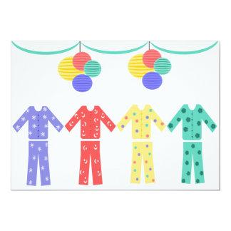 Pajamas In A Row Pajama Party Card