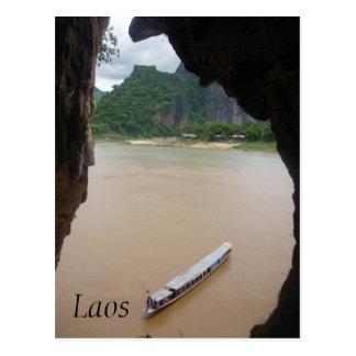 pak ou boat postcard