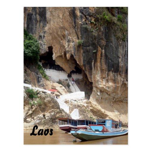 pak ou laos post card