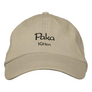 Paka / Kitten Embroidered Baseball Cap / Hat