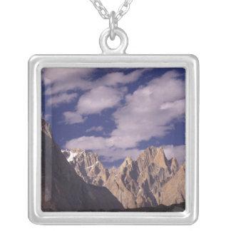 Pakistan, Baltoro Muztagh Range, Grand Cathedral Silver Plated Necklace