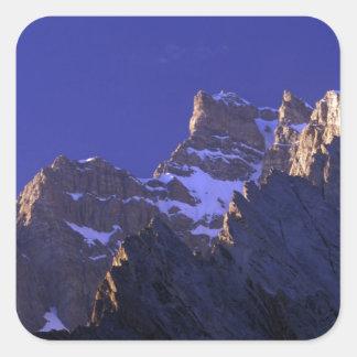 Pakistan, Baltoro Muztagh Range. Sunrise on the Square Sticker