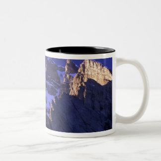 Pakistan, Baltoro Muztagh Range. Sunrise on the Two-Tone Coffee Mug