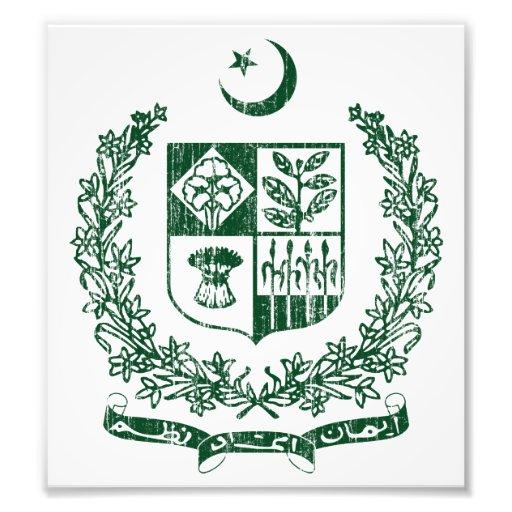 Pakistan Coat Of Arms Photographic Print