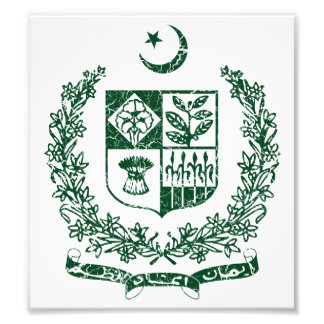 Pakistan Coat Of Arms Photographic Print