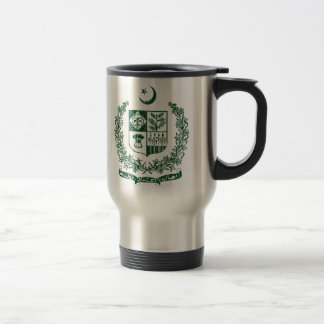 Pakistan Coat Of Arms Stainless Steel Travel Mug