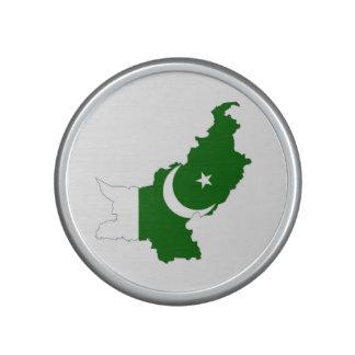 pakistan country flag map shape symbol speaker