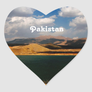 Pakistan Countryside Heart Sticker