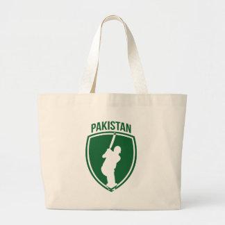 Pakistan Cricket Crest Tote Bags