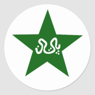 Pakistan Cricket Star Classic Round Sticker