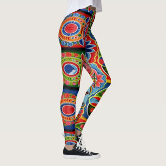 Pakistan Cultural Truck Art Leggings