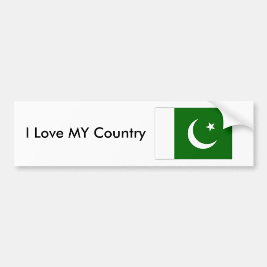 Pakistan Flag2 - PK Love MY Country The MUSEUM Bumper Sticker