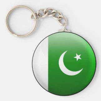 Pakistan Flag Basic Round Button Key Ring