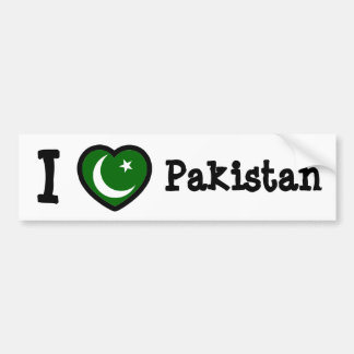 Pakistan Flag Bumper Sticker