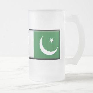 Pakistan Flag Frosted Glass Beer Mug