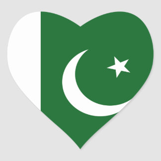Pakistan Flag Heart Sticker
