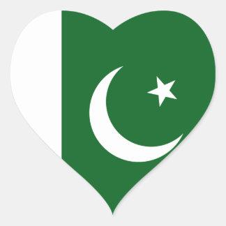 Pakistan Flag Heart Sticker