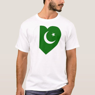 Pakistan Flag Heart T-Shirt