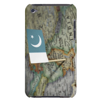 Pakistan flag in map Case-Mate iPod touch case