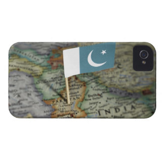 Pakistan flag in map iPhone 4 Case-Mate cases