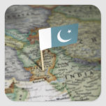 Pakistan flag in map stickers