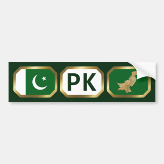 Pakistan Flag Map Code Bumper Sticker