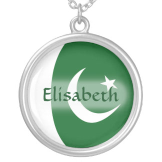 Pakistan Flag + Name Necklace