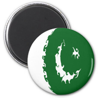 Pakistan Gnarly Flag 6 Cm Round Magnet