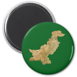 Pakistan Map Magnet