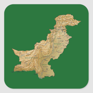 Pakistan Map Sticker