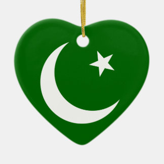 Pakistan Muslim League, Colombia flag Ceramic Heart Decoration
