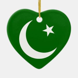 Pakistan Muslim League, Colombia flag Ceramic Heart Decoration
