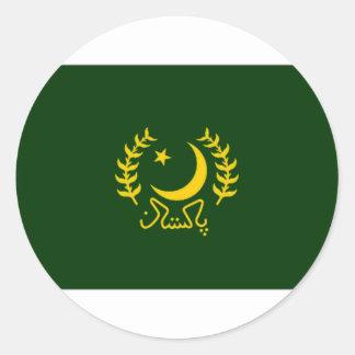 Pakistan President Flag Classic Round Sticker