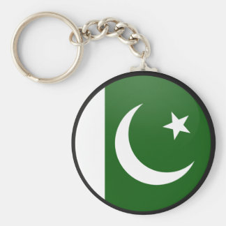 Pakistan quality Flag Circle Basic Round Button Key Ring