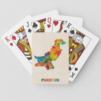 Pakistan Watercolor Map Playing Cards