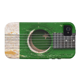 Pakistani Flag on Old Acoustic Guitar Case-Mate iPhone 4 Case